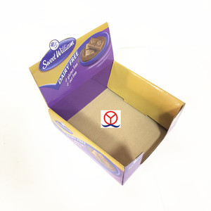 custom printing corrugated board foldable lid paper recycled food product snack display box
