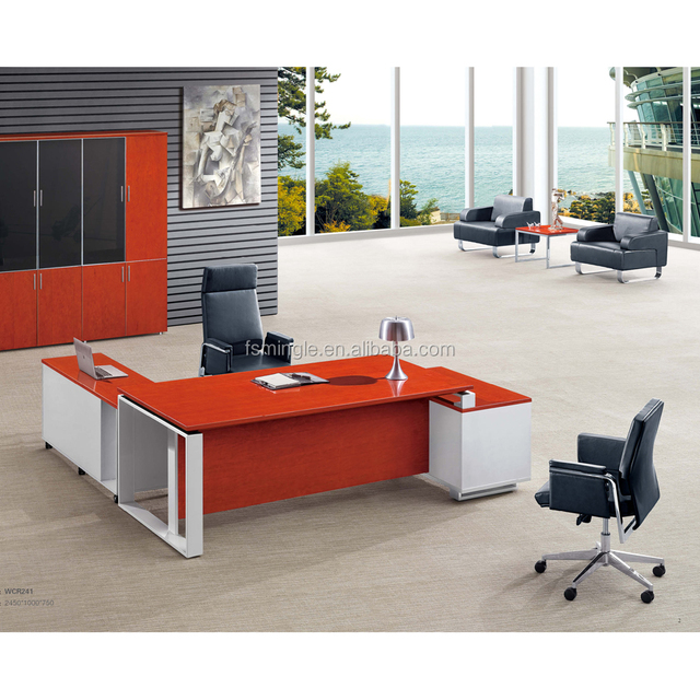 High Grade Mingle Furniture Cherry Wood Office Desk With Cabinets For  Wholesale And Distrubtions