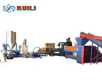 High Efficient PP PE Granules Making Machine price Waste Plastic Crashing Machinery
