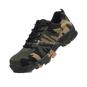 2018 New Men's Plus Size Outdoor Steel Toe Cap Military Work Safety Boots Shoes Men Camouflage Army Puncture Proof Boots