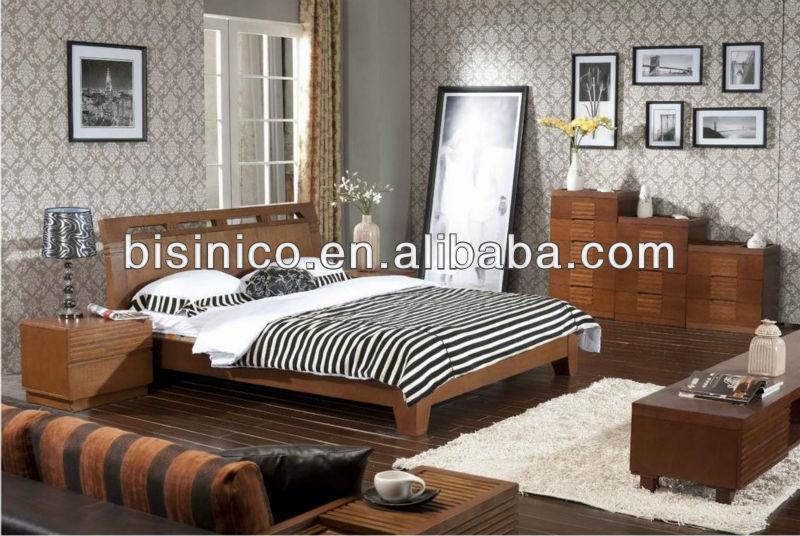Contemporary Natural Wood Bedroom Furniture,Morden Solid Wood Frame ...