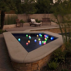 Baby Shower Bathtub decoration Waterproof Float Led ball/orb light