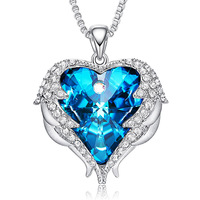 Wholesale Fashion Heart Necklace Jewelry embellished with crystals from Swarovski