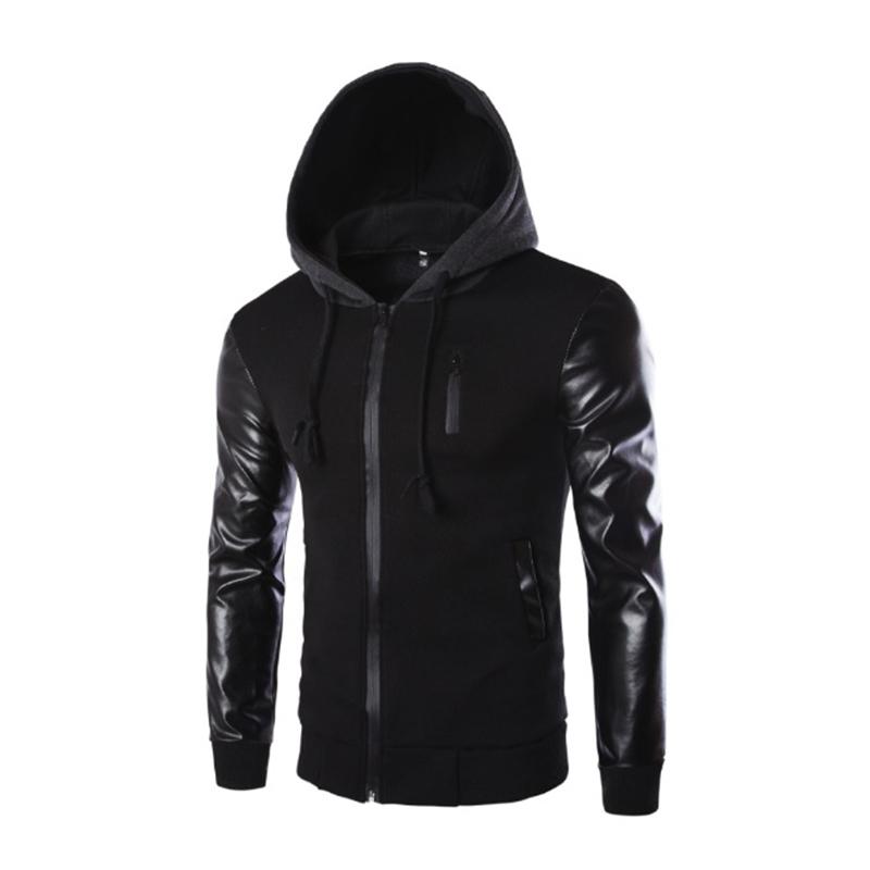 Popular Mens Leather Hoodie-Buy Cheap Mens Leather Hoodie ...