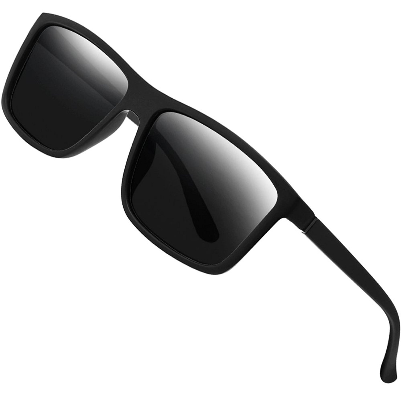 6a9df68d70a Get Quotations · Polarized Sunglasses for Men Driving Mens Sunglasses  Rectangular Vintage Sun Glasses For Men Women