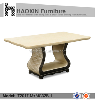 china supplier hot sell wooden dining table set/ marble table set
