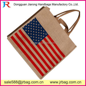 USA Jute Handbags Eco-friendly Jute Ladies Shopping Totes Bags