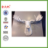 White Moose Head Resin Faux Taxidermy Antlers Trophy Mount Hunting