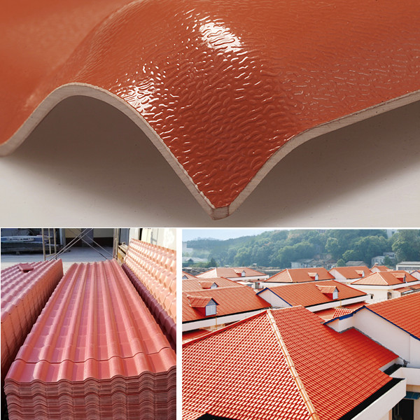 Yuehao plastic roof tiles wholesaler tiles lightweight plastic roof tiles design for water draining-2
