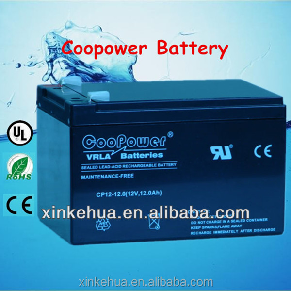 12v 12a battery, 12v 12ah battery Lead acid storage UPS solar gel deep cycle E-bike battery