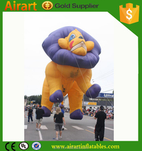 New design, high quality fly inflatable lion, giant inflatable lion for sale