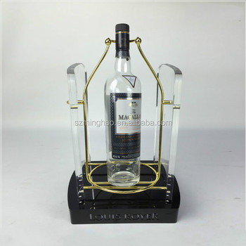 Led Illuminated Bottle Display Acrylic Wine