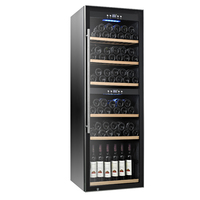 stainless steel door 126 bottles dual zone compressor custom wine cellar