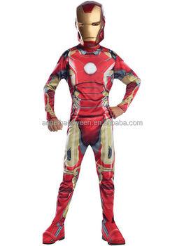 halloween marvel iron man child costume kids superhero costume agq4160