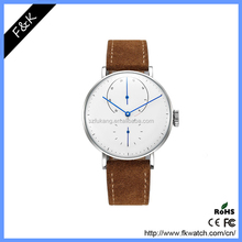 2016 watch 316Lstainless steel genuine leather automatic mens watch NOMO watch style
