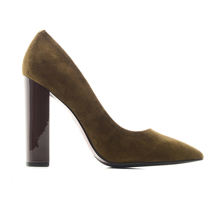 heels leather fancy Gracozy 2018 sexy cheap shoes ladies chunky women high vqAEwRCx