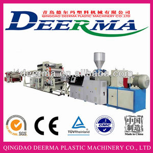 Plastic HD LD PE sheet extruder machine