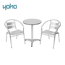 Bistro Aluminum Tea Table and Chairs Set for Garden Patio