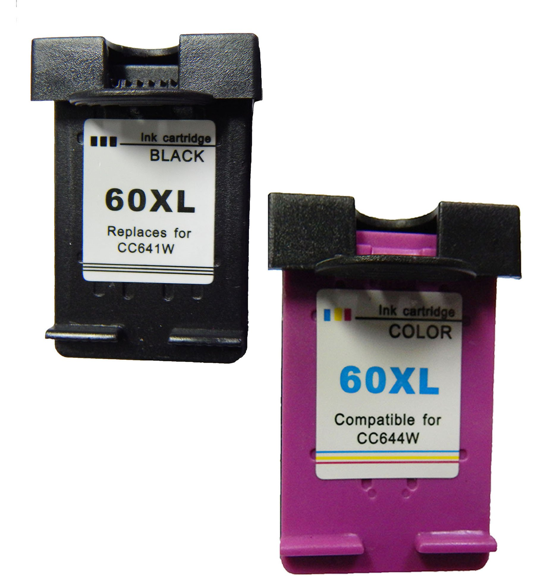 Get Quotations · Remanufactured HP 60XL Ink Cartridge CC641WN CC644WN Combo  Pack (2 Pack, Black & Tri