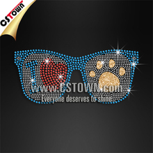 I love paw sunglasses bling wholesale rhinestone for t-shirt