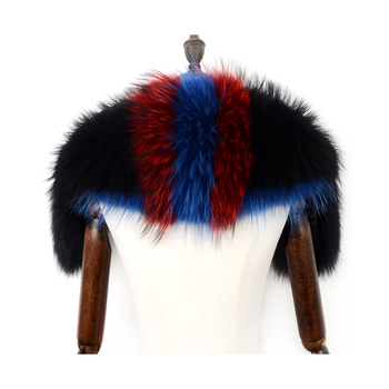 Custom logo fashion classic warm real fox fur collar for garment