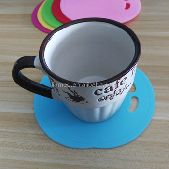 Wholesale Silicone Coffee Cup Flat Mat Heat Protection Coaster Mat