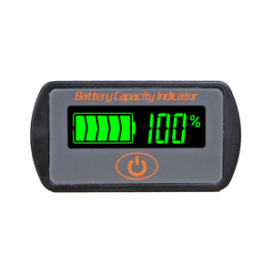 Battery Monitor Lead Acid Battery Capacity Tester 12V 24V LCD Digital Auto Voltage Electric Quantity Meter Panel Gauge for Car