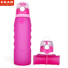 Wholesale Free Sample BPA free Sport Silicone Collapsible Water Bottle