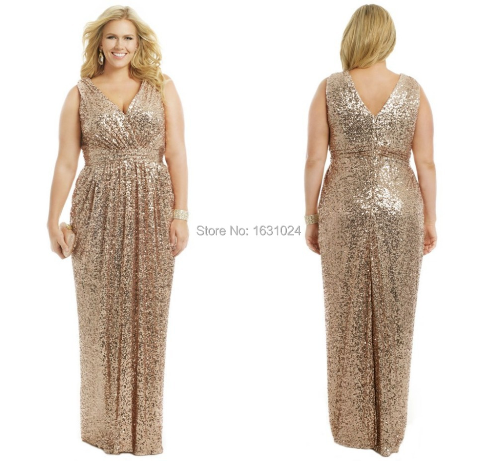 Buy Bling Bling champagne Bridesmaid Dresses Plus size bridesmaid ...