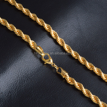 9db887eb225a Hot Sale Rope Chain Men Wholesale 18k Gold Rope Chain Necklace - Buy ...