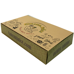 Paper box custom printed packaging salad box corrugated mango packaging tall shipping box