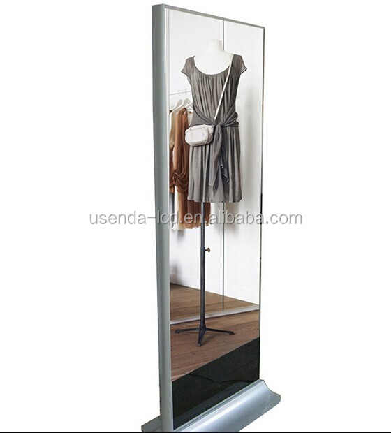 42 inch floor stand magic mirror advertising player for salon,dressing room,clothes store,spa centre ect.
