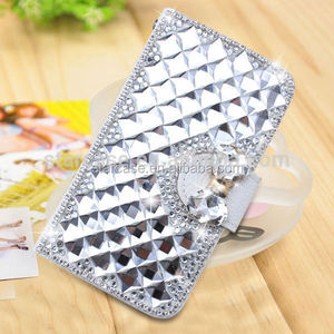 For Samsung Galaxy Note 2 S7100 Case Cover Wholesale Bling Diamond Leather Case For Samsung Galaxy Note 2 S7100