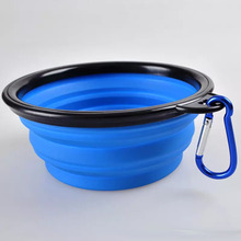 New Foldable Water Dish Feeder Folding Feeding Travel Portable silicone collapsible Pet Cat Dog Bowl
