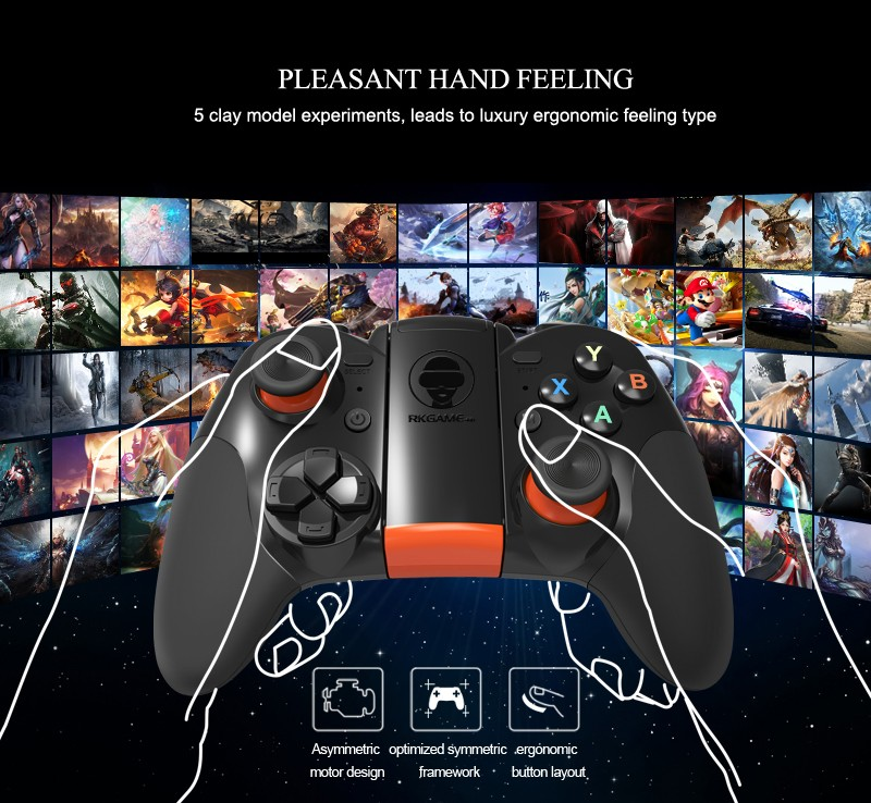 New design factory supply RKGame 4th bt android gamepad for smartphones