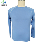Wholesales UV protection customized logo comfortable bamboo material long sleeve t shirts printing