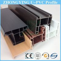 10 colors windows and doors soundproof pvc profile plastic