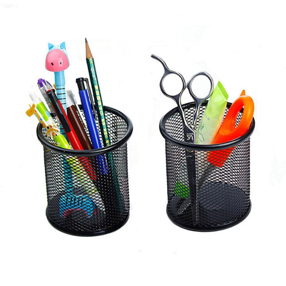 Office school desk stationery metal mesh pen holder