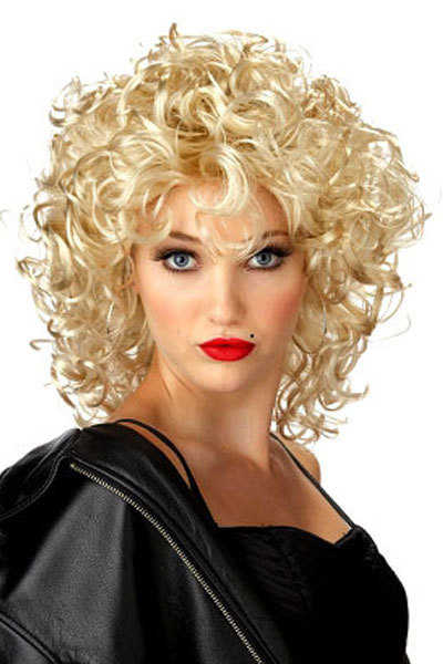 Funky Lite Curly Short Blond Wig Lc0177 Party Wig