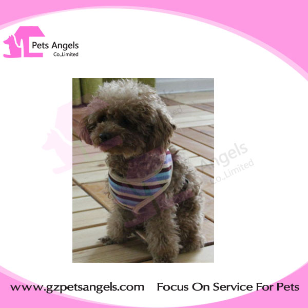 Factory directly Wholesale Pet Harness Beige Strips Safety Collar Adjustable