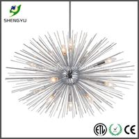 hanging fluorescent light colored glass chandeliers