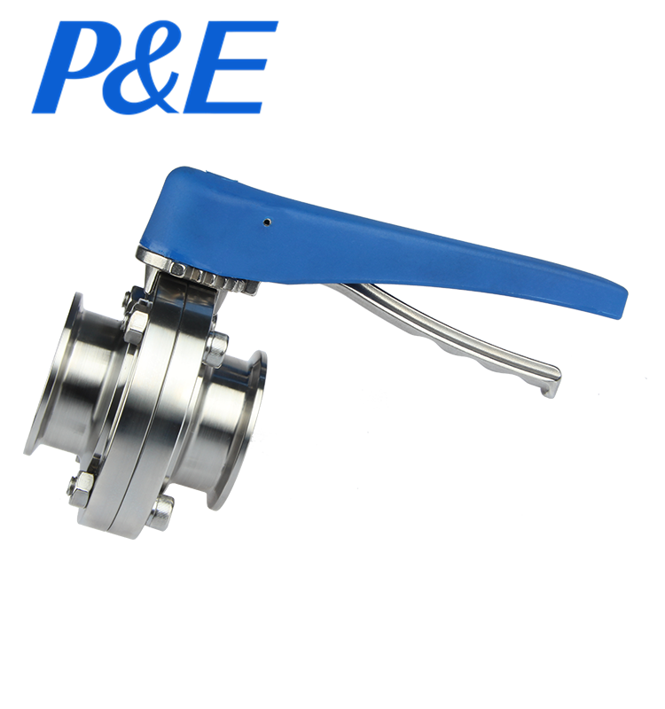 ss304 sanitary stainless steel tri clamp 3 way ball valve