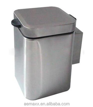 Stainless Steel Wall Mounted Hanging Waste Bin Air Trash Can Bathroom Hotel Product On Alibaba