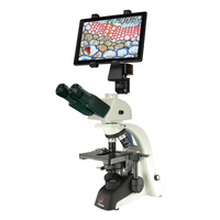 Phenix 1600x trinocular tube biologic digital microscope with 9.7 inch LCD display screen