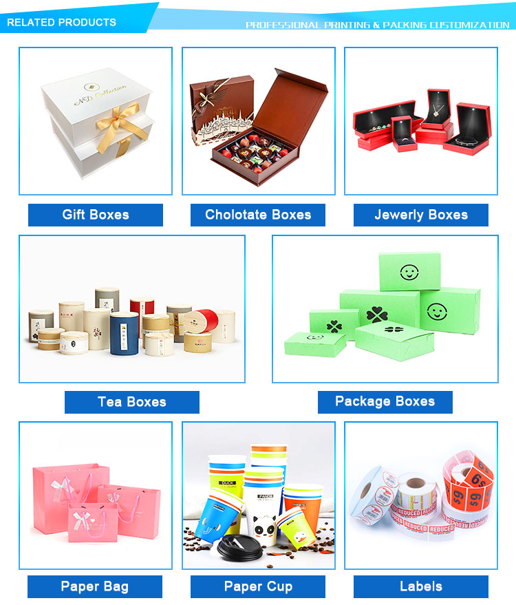 2019 Free Sample Wholesale Packaging Paper Gift Box with Flowers