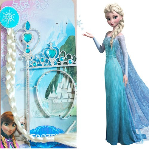Party favor event and occasion plastic magic wand and wig with diamond for kids