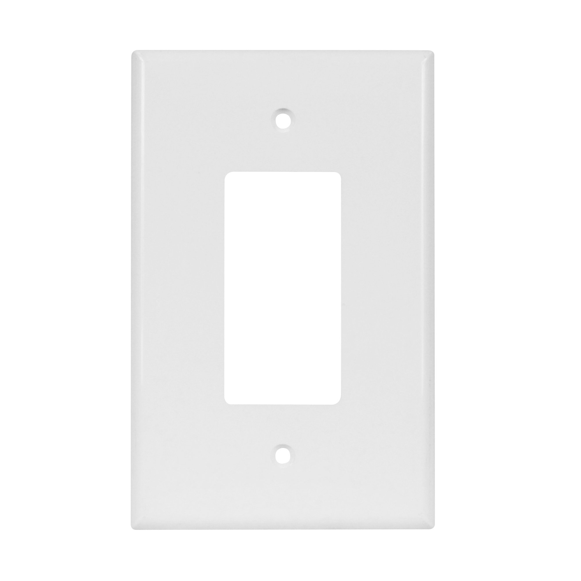 Enerlites 8831O-W Decorator Light Switch/Receptacle Outlet Wall Plate, Over-Size, Polycarbonate Thermoplastic, 1-Gang, White