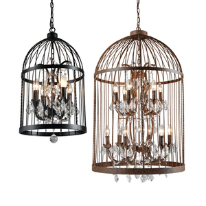 Antique Vintage decorative industrial lamp bird cage pendant light