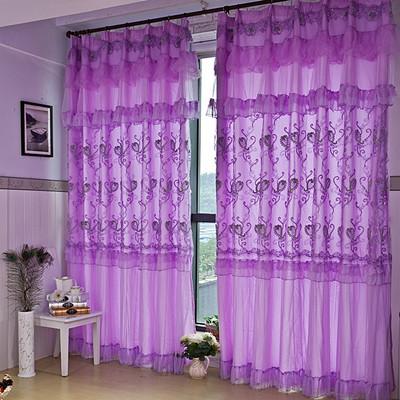 violet dentelle rideaux promotion achetez des violet dentelle rideaux promotionnels sur. Black Bedroom Furniture Sets. Home Design Ideas