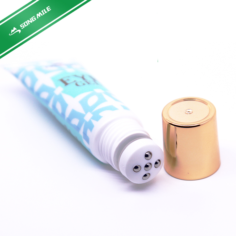 Cosmetic packing tube with vanish printing